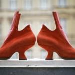 Bootie – Maßschuhe aus rotem Veloursleder und Ziegenleder