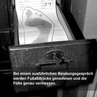 Der Herr der Schuhe - Maßschuhe Frankfurt - Fußabdruck und Maßnehmen