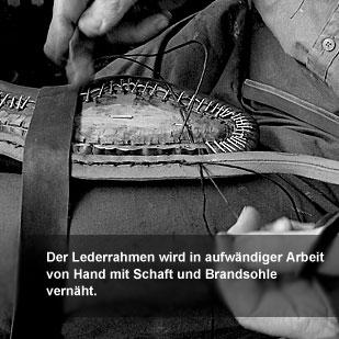 Der Herr der Schuhe - Maßschuhe Frankfurt - Rahmen nähen