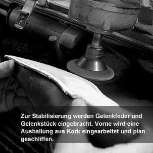 Der Herr der Schuhe - Maßschuhe Frankfurt - Gelenkstück und Ausballung