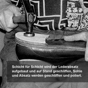 Der Herr der Schuhe - Maßschuhe Frankfurt - Absatzaufbau