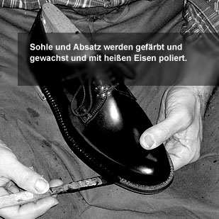 Der Herr der Schuhe - Maßschuhe Frankfurt - Finish