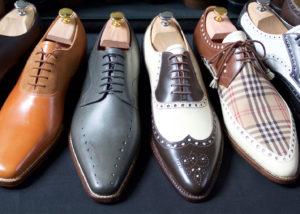 Maßschuhe Frankfurt - Derby und Oxford Musterschuhe aus Kalbleder - custom-made shoes