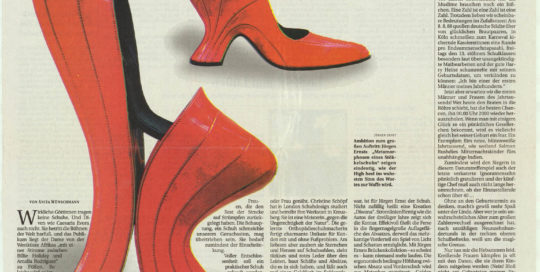 Jürgen Ernst - Der Herr Der Schuhe - 1999 Berliner Zeitung - Bericht