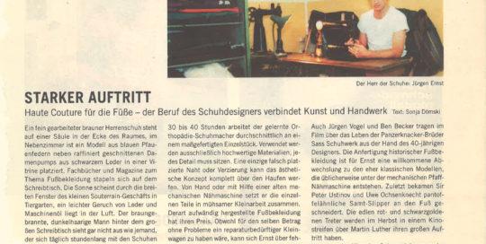 Jürgen Ernst - Der Herr Der Schuhe - 2003 Zitty Berlin Haute Couture für die Füße