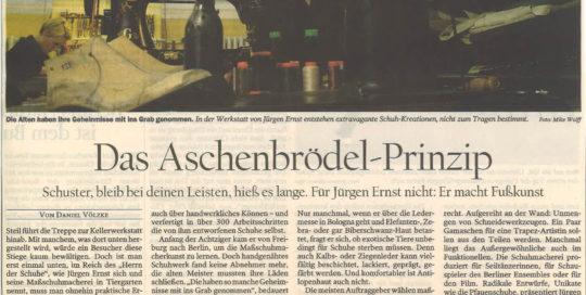Jürgen Ernst - Der Herr Der Schuhe - 2005 Tagesspiegel Schuhkunst