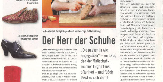 Jürgen Ernst - Der Herr Der Schuhe - 2008 Journal Frankfurt - Maßschuhe