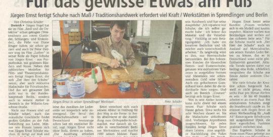 Jürgen Ernst - Der Herr Der Schuhe - 2009 Offenbach Post - Schuhe nach Maß