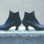 Der Herr der Schuhe - Frankfurt - Damen Bootie – Massschuhe aus schwarzem Kalbleder mit Reissverschluss innen