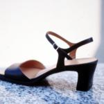 Der Herr der Schuhe - Frankfurt - Slingpumps – Massschuhe aus schwarzem Chevreauxleder