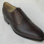 Der Herr der Schuhe - Frankfurt - Herren Schnürhalbschuhe Oxford – Massschuhe aus dunkelbraunem Kalbleder mit Zierlochung