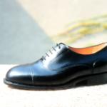 Der Herr der Schuhe - Frankfurt - Herren Schnürhalbchuhe Oxford – Massschuhe aus schwarzem Kalbleder