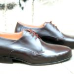 Der Herr der Schuhe - Frankfurt - Herren Schnürhalbschuhe Derby Massschuhe aus schwarzem Kalbleder