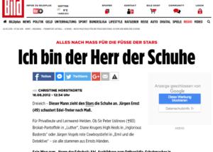 Presse Ausschnitt der Bild Online Maßschuhmacher-Meister Jürgen Ernst