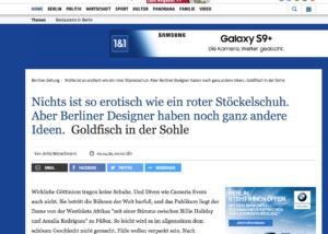 Presse Ausschnitt der Berliner Zeitung Online Maßschuhmacher-Meister Jürgen Ernst